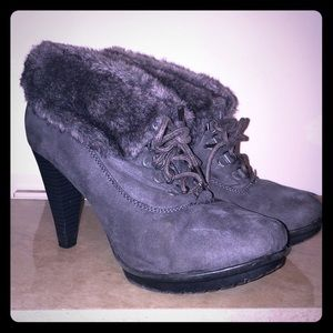 Size 8 grey fur booties